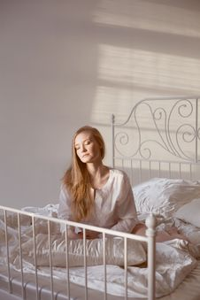 Girl In The Morning Sun Royalty Free Stock Photo