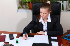 Free Businesswoman In Black Suit Stock Photography - 19390302