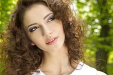 Free Brunette In The Garden Royalty Free Stock Image - 19390426