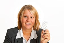 Free Businesswoman With Dollar Sign Royalty Free Stock Photography - 19390877