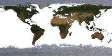Free Wool Worldmap Royalty Free Stock Image - 19391266