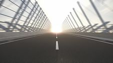 Road To Nowhere Into Sunset Royalty Free Stock Image