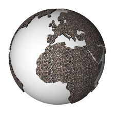 Free Gravel Globe Stock Photo - 19392060