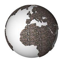 Gravel Globe Stock Photo