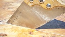 Cutting Wood Concept Stock Photo