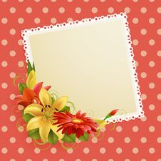 Flowers And Place For Text Stock Images