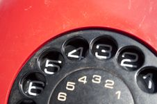 Free Red Telephone Background Stock Images - 19393104