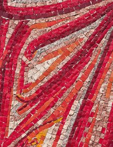 Mosaic In Shades Of Red Royalty Free Stock Photos
