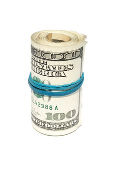 Roll Of The Dollars Royalty Free Stock Photography
