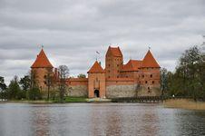Free Trakai Island Castle Royalty Free Stock Image - 19394666