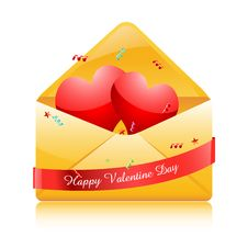 Free Hearts In Envelope Royalty Free Stock Photography - 19395947