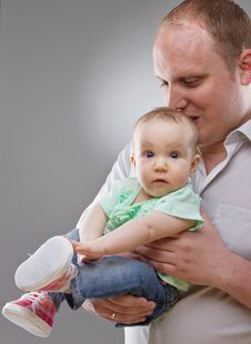 Girl And Father - Cute Image Stock Images