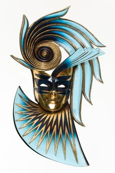 Free The Mask In Blue And Gold Royalty Free Stock Photos - 19397128