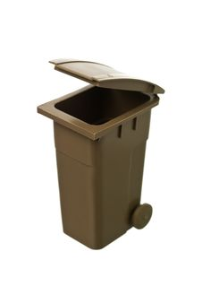 Free Brown Recycling Bin Royalty Free Stock Images - 19397129