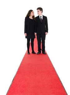 Free Couple Standing On A Red Carpet Stock Photography - 19397602
