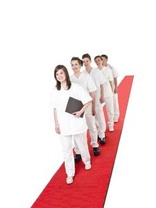 Free Medical Team On A Red Carpet Royalty Free Stock Image - 19397796