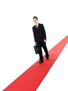 Free Businessman On A Red Carpet Royalty Free Stock Photos - 19397798