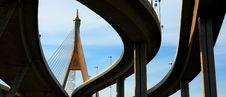 Panorama Of Bhumibol Bridge, Bangkok Stock Image