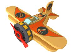 Free Model Of The Toy Plane Royalty Free Stock Images - 19398559