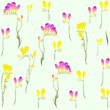 Free Seamless Background From A Flowers Ornament, Fashi Royalty Free Stock Photos - 19399388