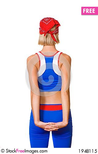 Free Fitness Trainer From Behind Royalty Free Stock Photo - 1948115