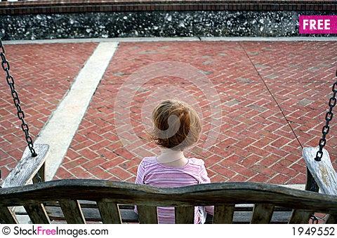 Free Little Girl Swing Stock Photography - 1949552