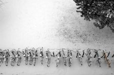 Free Bikes In Snow Royalty Free Stock Photography - 1940197