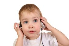 Free Baby With Headphones 4 Stock Image - 1941001