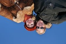 Free Winter Couple On Sky Stock Photography - 1941052