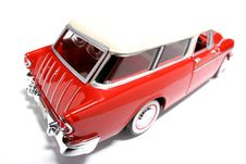 Chevrolet 1955 Metal Scale Toy Car Fisheye 5 Stock Photography