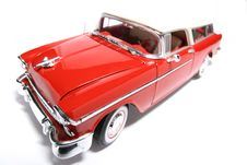 Chevrolet 1955 Metal Scale Toy Car Fisheye 6 Royalty Free Stock Photos