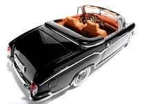 1958 Mercedes Benz 220 SE Metal Scale Toy Car Fisheye 4 Royalty Free Stock Photo