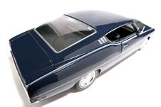 1969 Ford Torino Talladega Metal Scale Toy Car Fisheye 4 Stock Image