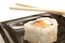 Free Single Sushi On White Level Royalty Free Stock Image - 1941266