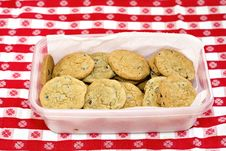 Free Container Of Chocolate Chip Royalty Free Stock Images - 1941319
