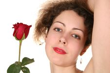 Free Woman With Rose Royalty Free Stock Photo - 1942535