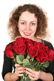 Free Woman With Roses Stock Photos - 1942553