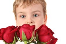 Free Boy With Roses Stock Photos - 1942563