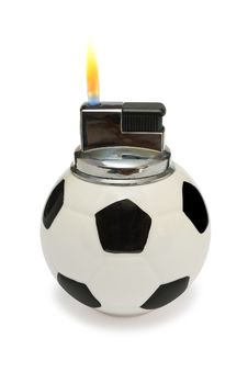 Free Flaming Lighter Like A Soccer Ball Stock Photo - 1944280