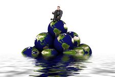 Free 3d Earth And Man Royalty Free Stock Photo - 1944645