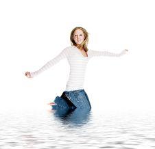 Free Jumping Girl Royalty Free Stock Image - 1944666