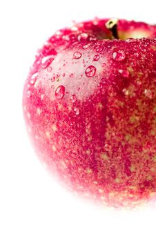 Red Apple With Waterdrops Stock Photography