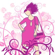 Free Girl On A Flower Background Royalty Free Stock Images - 1945829