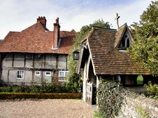 Medieval Village Cottage Stock Image