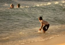 Free Playing At The Beach Royalty Free Stock Images - 1949539