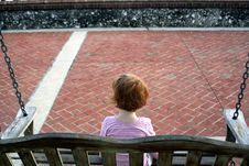 Little Girl Swing Stock Photography