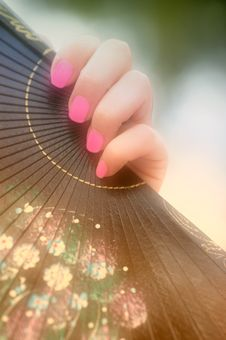 Free Female Hand With A Fan Stock Image - 1949681