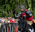 Free Medieval Knight On Horseback Stock Images - 19403354