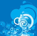 Free Abstract Blue Swirl Stock Images - 19406864