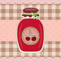 Free Cherry Jam Royalty Free Stock Photos - 19409338